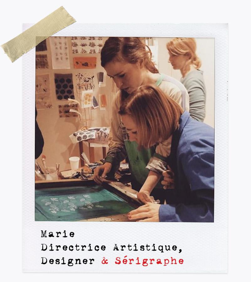 Les Affranchis - Marie, Directrice Artistique, Designer & Sérigraphe